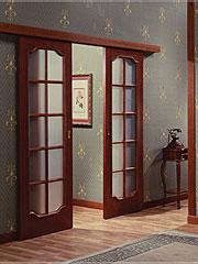 Раздвижная межкомнатная дверь со стеклянными вставками