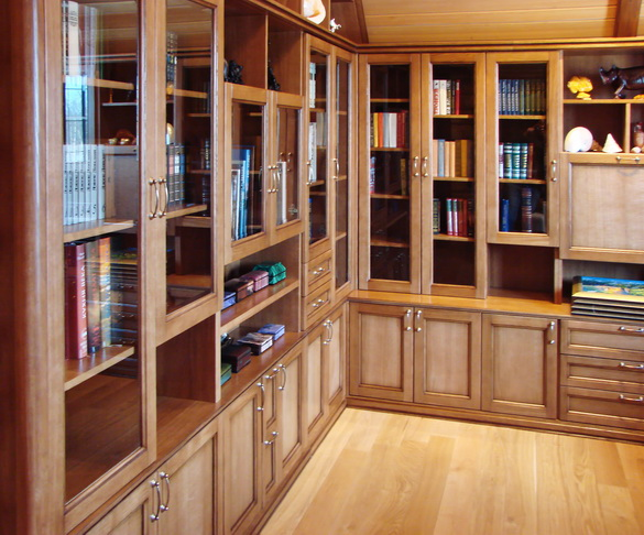 Мебель для домашней библиотеки в москве.