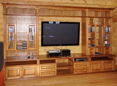 Мебель для гостиных комнат из натурального дерева